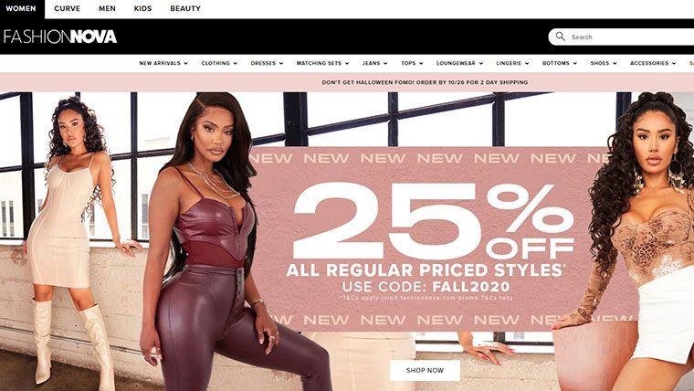 sites like Fashion Nova